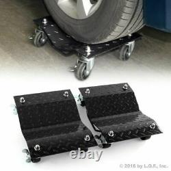 Heavy Duty Car Dolly Under Vehicle Tire Skates Roller Wheel Casters Garage Tool