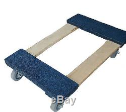 Heavy Duty Carpeted Moving Furniture Dolly 18 x 30 -3 or 4 casters to choose