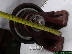 Heavy Duty Forged Steel 8 X 4 Wheel Caster With Grease Zert New