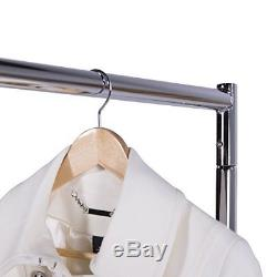 Heavy Duty Garment Rack Durable Clothes Display Dry Hanger Z-base with Caster US