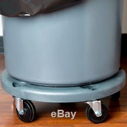 Heavy Duty Plastic Mobile Dolly Commercial Trash Garbage Can Bin with 5 Casters