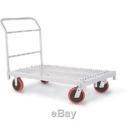 Heavy Duty Platform Truck with 8 x 2 Poly Casters 3957