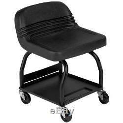 Heavy-Duty Shop Seat With Casters