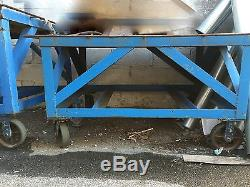 Heavy Duty Steel table with havy duty casters and stabilizer