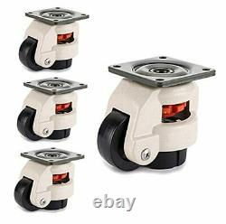 Heavy Duty Workbench Leveling Caster Set of 4 Retractable Step Down Casters