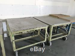 Heavy duty steel rolling work bench welding tables with casters stainless steel