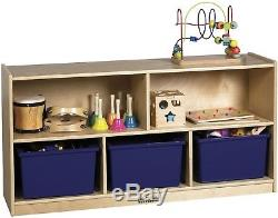 Home Office Wood Furniture 5 Compartment Storage Cabinet with Heavy Duty Caster