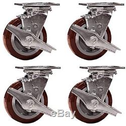 Industrial Hardware SCC-30CS520-PPUR-TLB-4 Heavy Duty Swivel Casters With Wheel