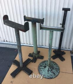 Industrial Iron & Steel Stands For Machine Shop Heavy Duty Lot Of 4