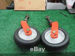 Jacobsen Turfcat Set of 2 CASTER FORK with WHEELS & Spacers OEM NEW