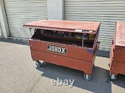 Jobox 60 in. L Heavy-Duty Versatile Slope Lid Tool Chest withCasters