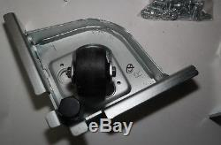 Lot 4x Matching Netapp Heavy Duty Server Rack Casters Assembly With Mounts