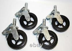 Lot of heavy duty Scaffold Caster 8 x 2 with Locking Brakes 1-3/8 2000 lbs