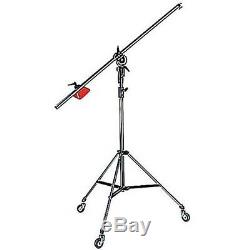 Manfrotto 085BS Heavy Duty Light Boom Includes 008BU Stand with Casters . New