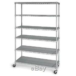 Member's Mark 6-Level Commercial Storage Shelving Heavy Duty Zinc Plated Casters