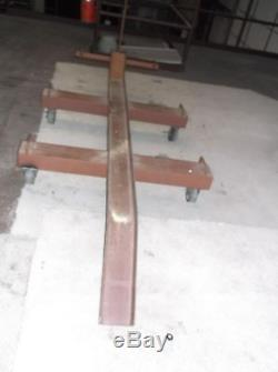 Motorcycle stand on casters custom made heavy duty