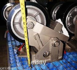 NASA SURPLUS 8,000 LB LAIRD DOUBLE CASTERS swivel wheels shock absorbing
