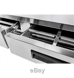 NEW HEAVY DUTY 72 4 DRAWERS REFRIGERATED CHEF BASE COOLER With CASTERS FREE SHIP