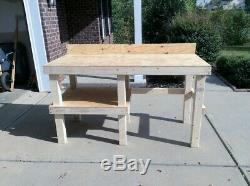 NEW Heavy Duty Wooden Work Bench Choose Dimensions Pickup Only