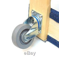NK Furniture Movers Dolly with 5 Heavy Duty Swivel Casters (30 x 17), Blue