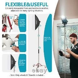 Neewer 10ft/305cm Heavy Duty Stainless Steel Light Stand Tripod with Casters