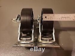New 4pc Craftsman Heavy Duty Tool Cart Casters 6x2 2 Swivel WithBrake 2 Straight