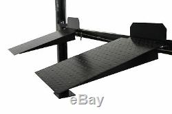 New Pro Lift 8000 Lb 4-Post Heavy Duty Storage Storage Lift withCasters & Trays