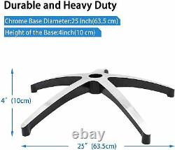 Office Chair Base Replacement, 25 Heavy Duty Swivel Chair with Wheels Casters