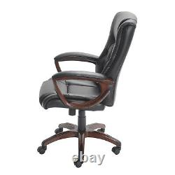 Office Chair Bonded Leather Seat Furniture Heavy Duty Base Lockout Lever Caster
