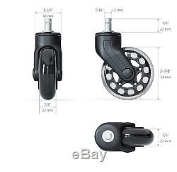 Office Chair Caster Wheels Heavy Duty Safe Protection For Desk Floor Mat 5 Pack