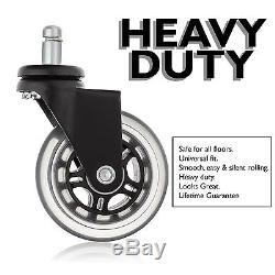Office Desk Chair Replacement Caster Wheels Set Heavy Duty Construction Prote