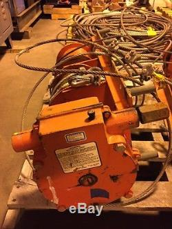 Pair Of 2 THERN Heavy Duty Industrial Winches Geared Low, Winch