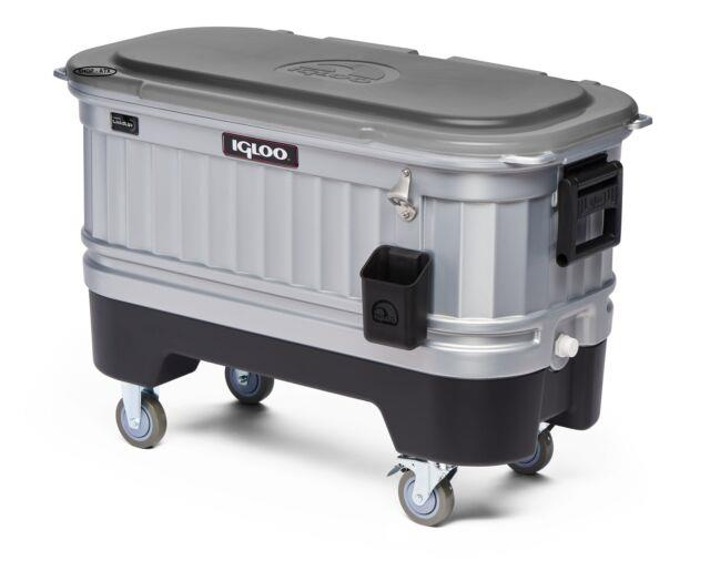 Party Bar Cooler 42 Ounce Heavy-duty, Lockable Casters, Removable Drink Dividers
