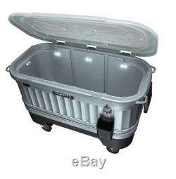 Party Bar Cooler Outdoor Sports Camping Heavy-duty Lockable Casters Beverages Ca