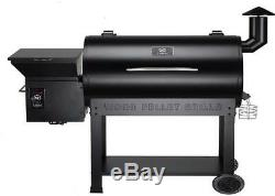 Pro Pellet Grill and Smoker in Black Heavy Duty Casters Rust Resistant