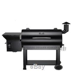 Pro Pellet Grill and Smoker in Black, Heavy Duty Casters with 2 Brakes Z Grills