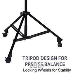 Professional Microphone Stand Heavy Duty 90 Studio Overhead Boom Rolling Caster