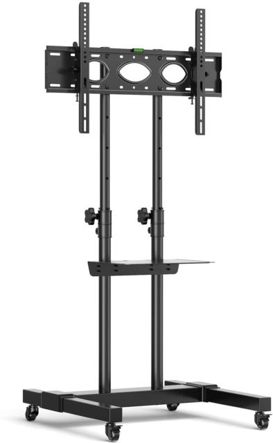 Rfiver Tall Mobile Tv Stand On Wheels Castors For Most 32-70 Flat Curved Tvs