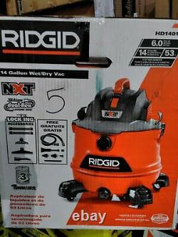 RIDGID14 Gal. NXT Wet/Dry Shop Vacuum with Fine Dust Filter, Hose. Car Cleaning Kit