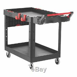 Rubbermaid Commercial Products 1997208 Heavy Duty Adaptable Utility Cart, Black
