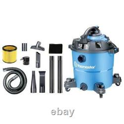Rugged Wet Dry Vacuum 12 Gal Shop Vac with Detachable Blower Heavy Duty Caster
