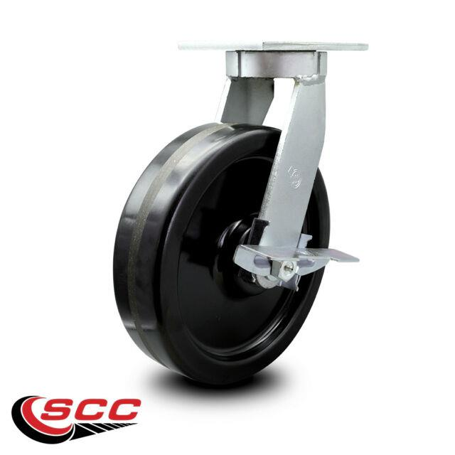 Scc 12 Extra Heavy Duty Phenolic Caster Swivel Caster Withbrake-3500 Lbs/caster