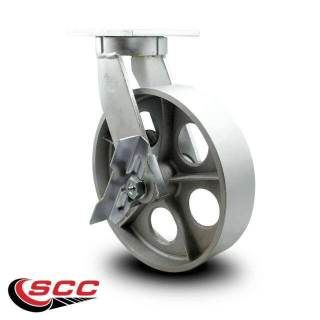Scc 12 Extra Heavy Duty Semi Steel Caster-swivel Caster Withbrake-2500 Lbs/caster