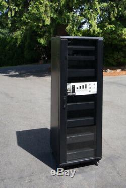 Sanus CFR2136 70 Steel Component Rack with Heavy-Duty Casters