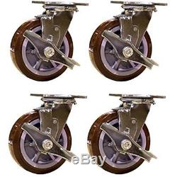 Service Industrial Hardware Caster SCC-30CS620-PPUR-TLB-4 Heavy Duty Swivel With