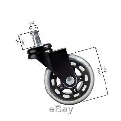 Set of (5) Office Chair Caster Wheels for Professionals- HEAVY DUTY 3 Sleek