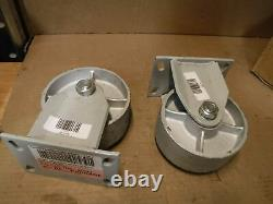 Set of Fairbanks Rigid Extra Heavy Duty Replacement Casters 1500lb Capacity Each