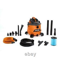 Shop Vacuum Wet Dry Heavy Duty Cleanup Fine Dust Filter Hose Car Cleaning Kit