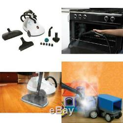 SteamFast Canister Steam Cleaner Wheels Casters Heavy Duty 17 Useful Accessories