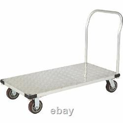 Strongway Aluminum Platform Cart- 1100-Lb. Capacity 48inL x 24inW 6in Casters